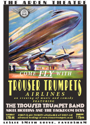 Come Fly with The Trouser Trumpet Band at The Arden Theatre